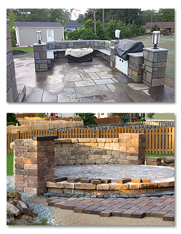 Outdoor Kitchen Stone and Brickwork
