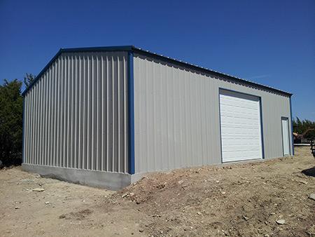 metal storage barn