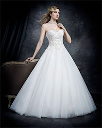 Bridal Gown With Long Train