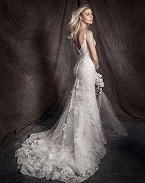 Floral Design Wedding Dress