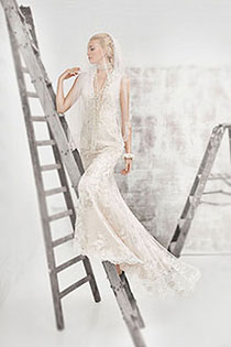 Bride Posing In Gown