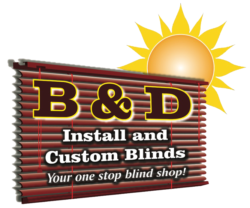B & D Install & Custom Blinds Logo