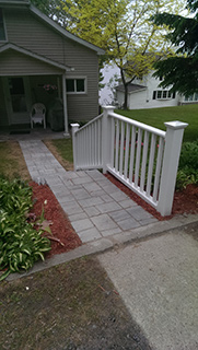Paved Stairs with fence