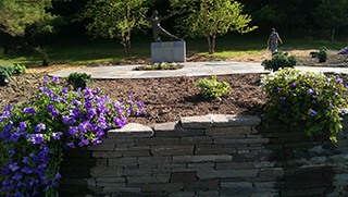 Garden and Reatining Wall