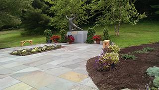 Paver Patio with gardens
