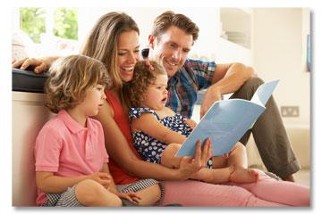 Family In Indoor Comfort Home
