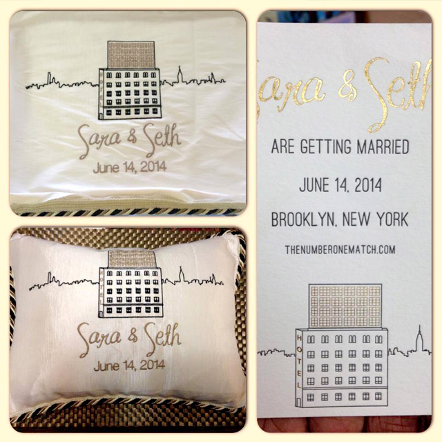 Embroidery Wedding Pillow