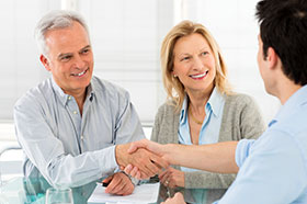 Insurance Agent Consulting with Client