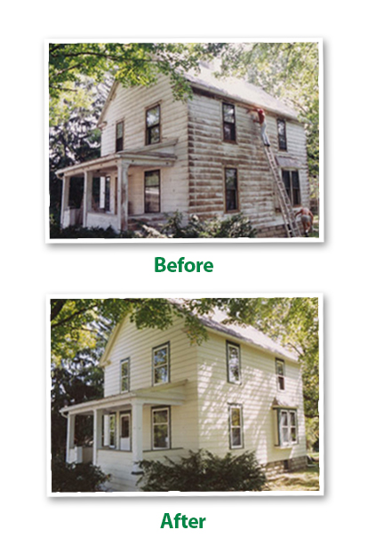 Before and After House Painting