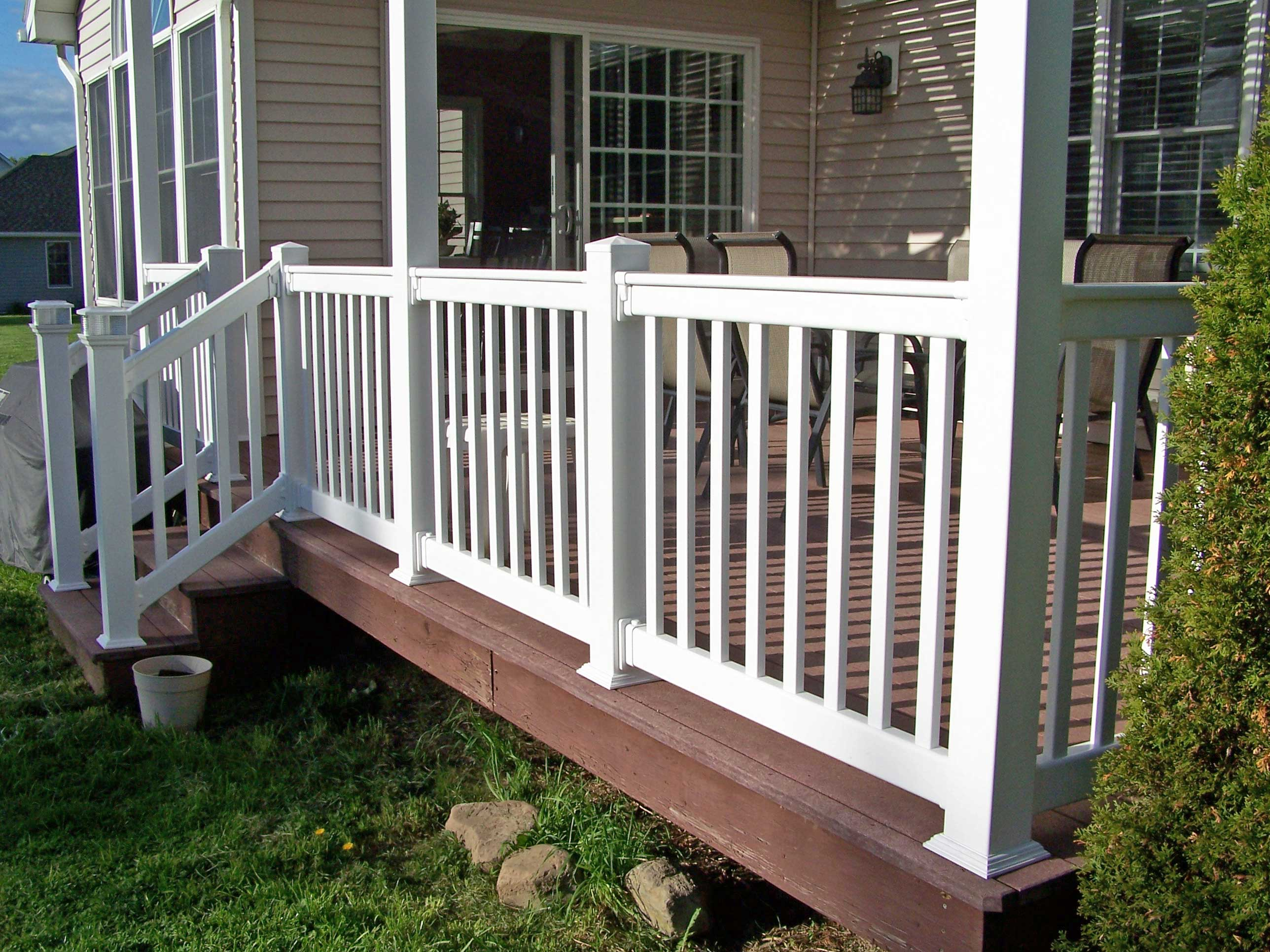 Railings at wholesale fence and railings llc rochester ny railing back deck railing solutioingenieria Images