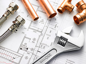 Plumber Tools and Blueprint