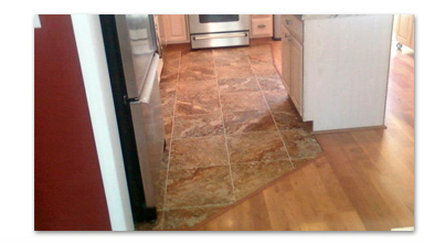 Tile and Hardwood Floor Mix