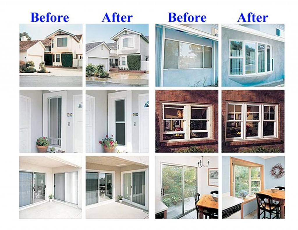 California Sliding Door. Windows Before And After
